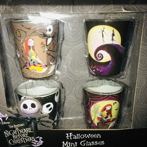 Set Of 4 Nightmare Before Christmas Shot Glasses